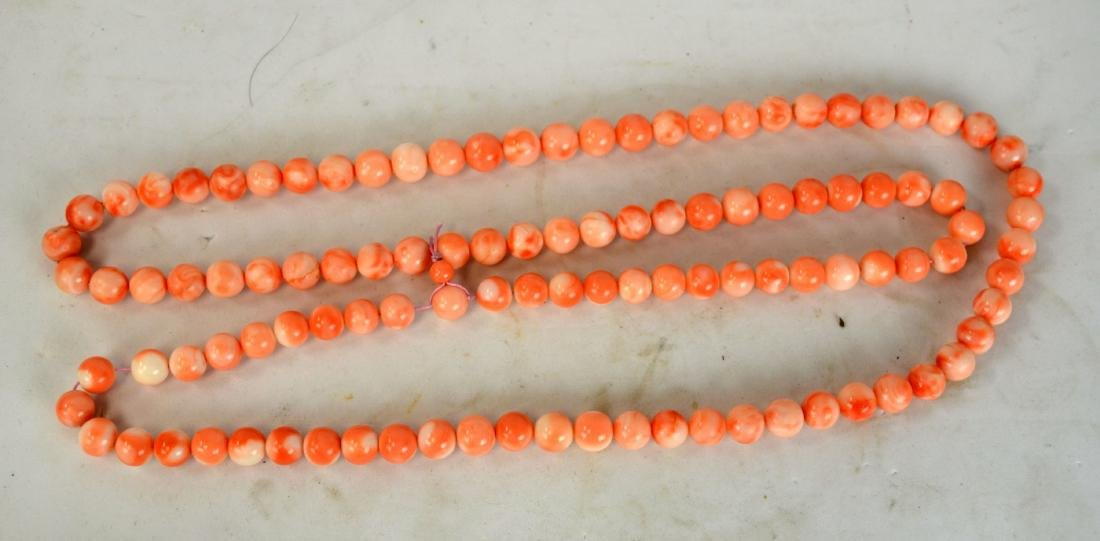 108 Natural Corral Beads Necklace