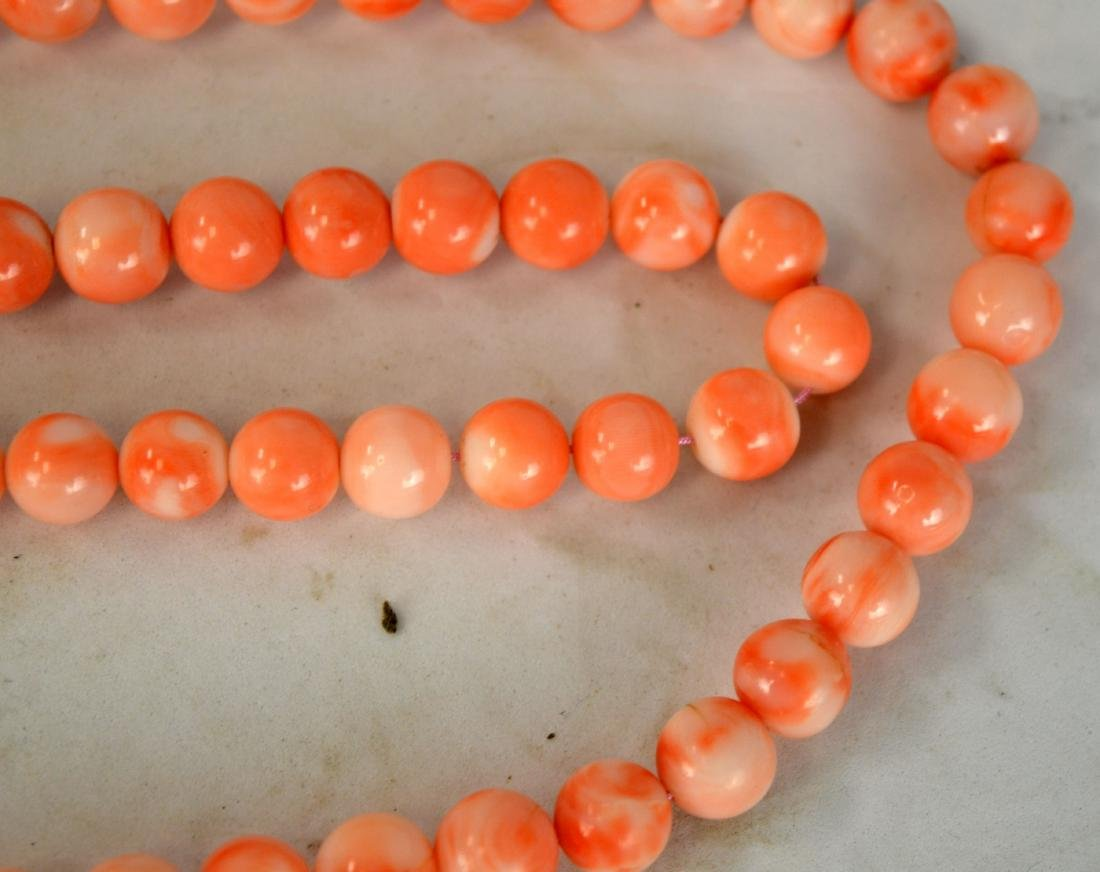 108 Natural Corral Beads Necklace - 3
