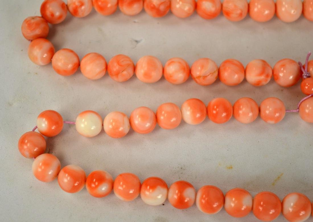 108 Natural Corral Beads Necklace - 4