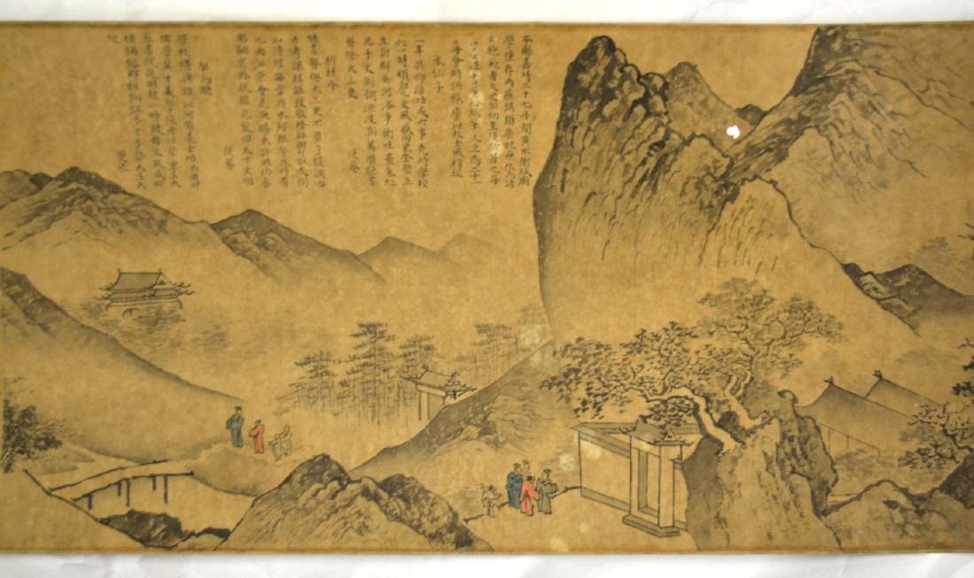 Long Chinese Painting Scroll