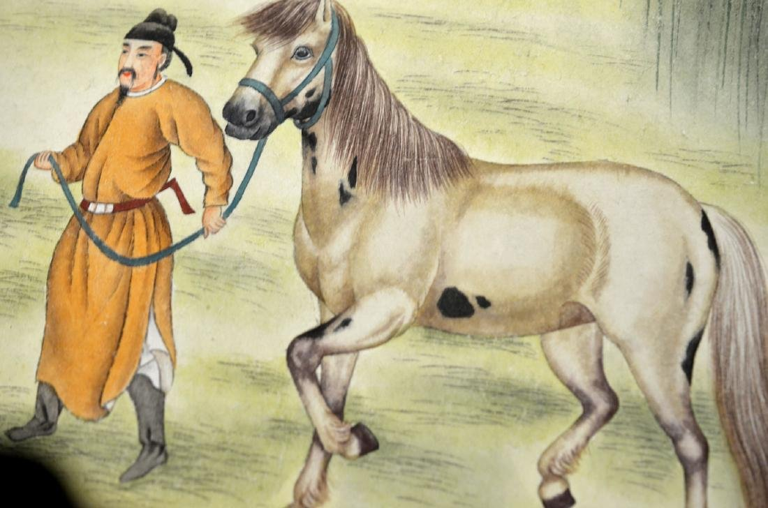 Chinese Painting Scroll (Horses) - 5