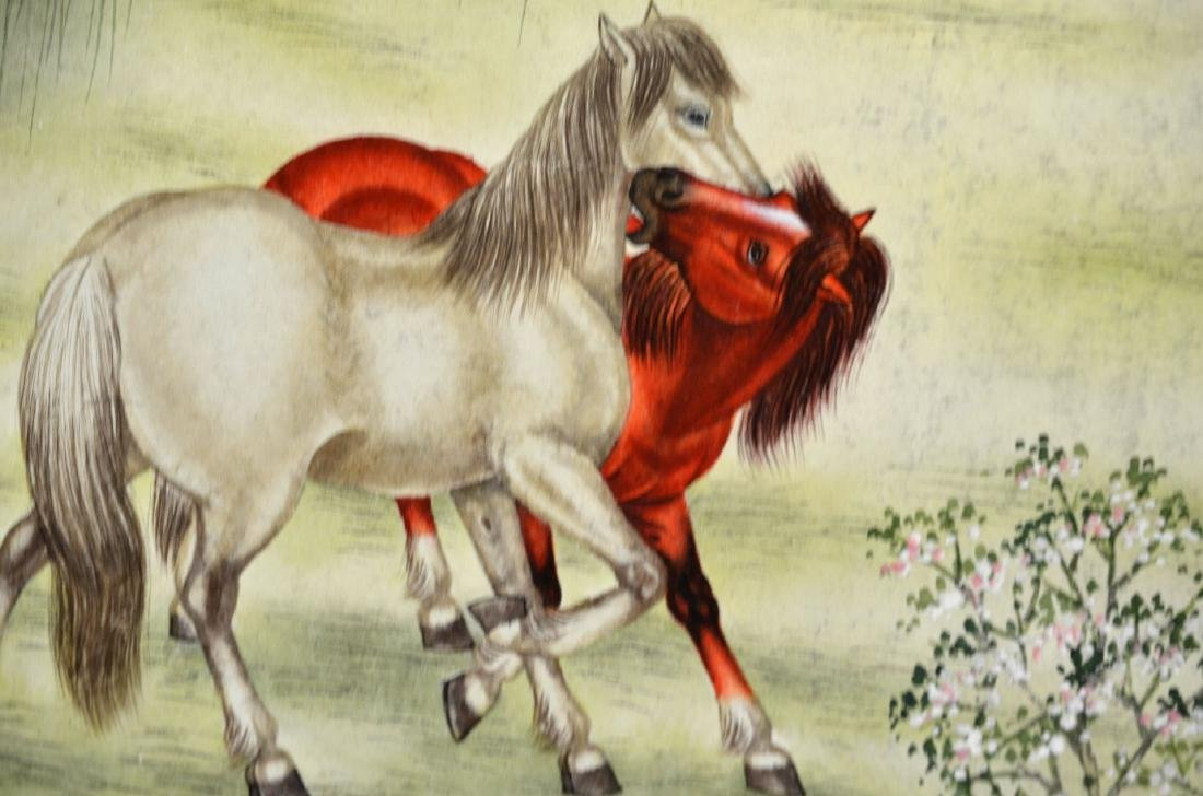 Chinese Painting Scroll (Horses) - 6