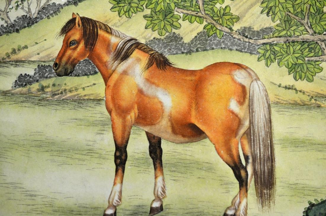 Chinese Painting Scroll (Horses) - 7