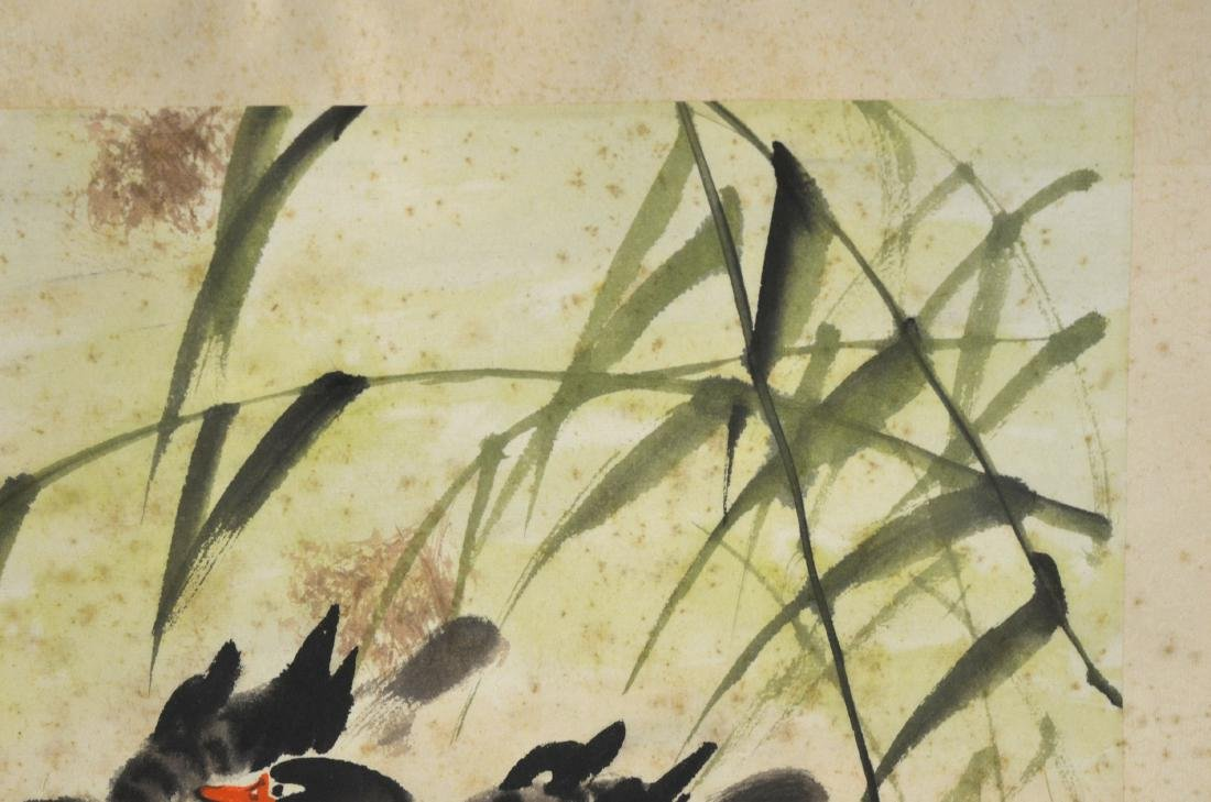 Framed Chinese Watercolor Painting - 3