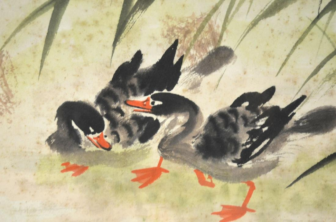 Framed Chinese Watercolor Painting - 7