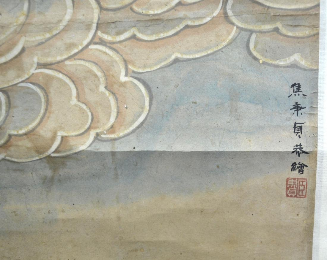 Chinese Watercolor Painting on Scroll (Guanyin) - 6