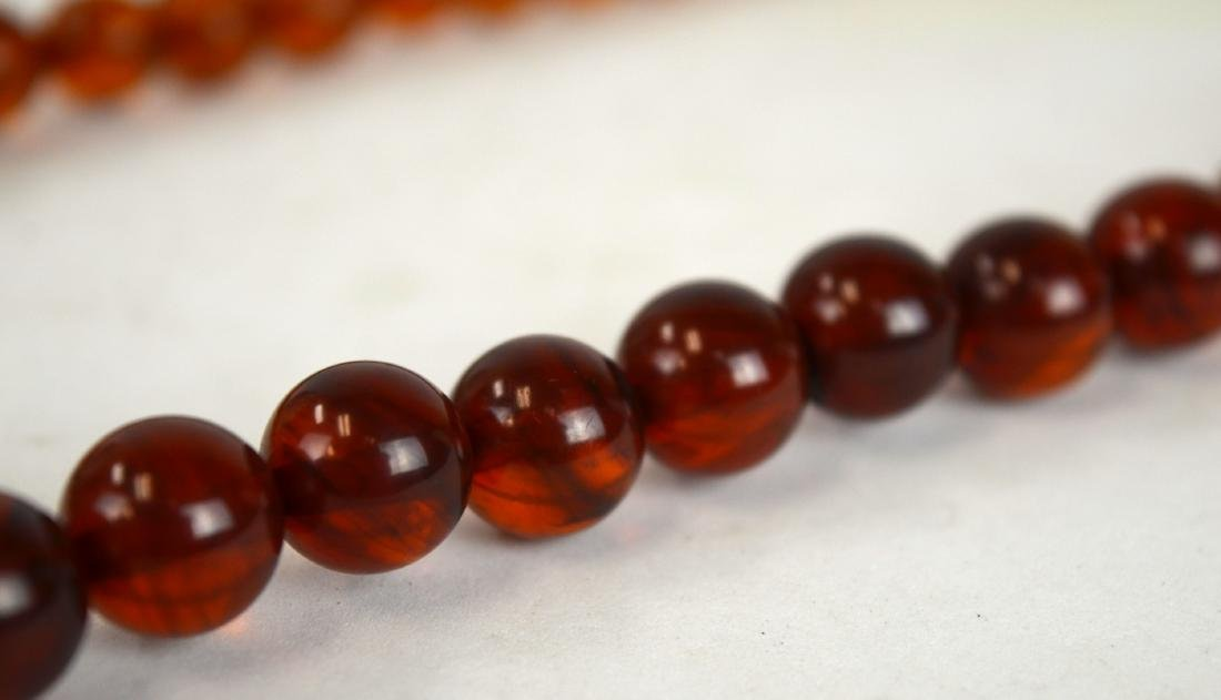 Amber Beads Necklace - 6