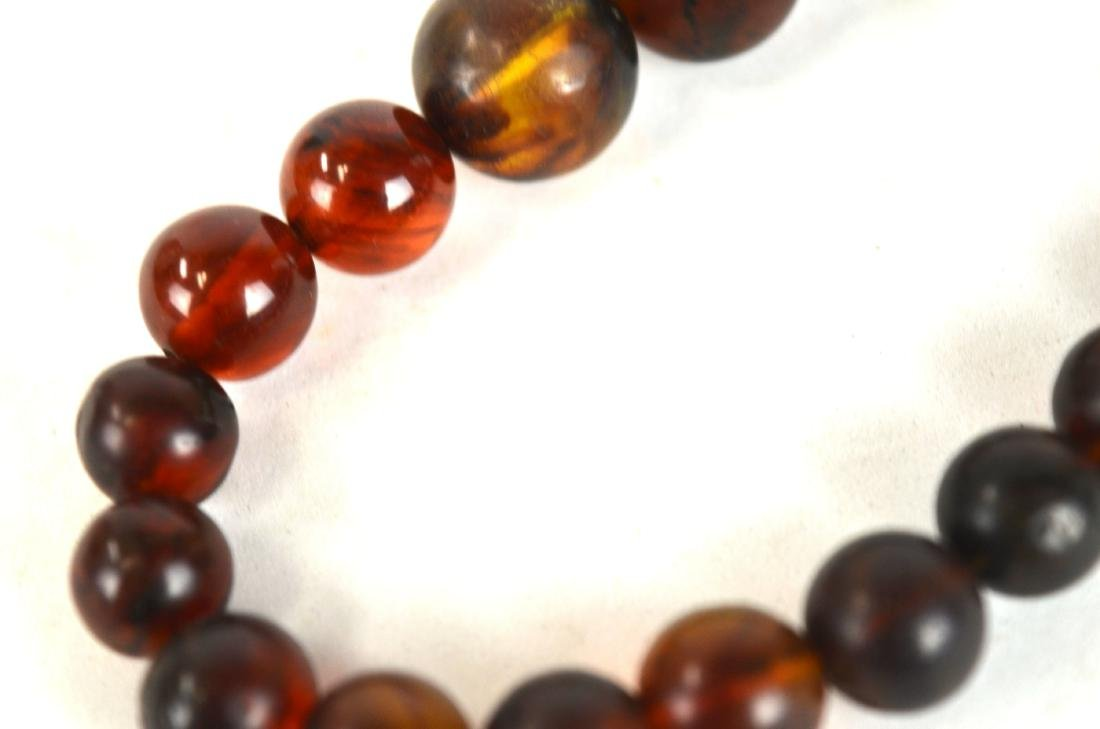 Amber Beads Necklace - 5