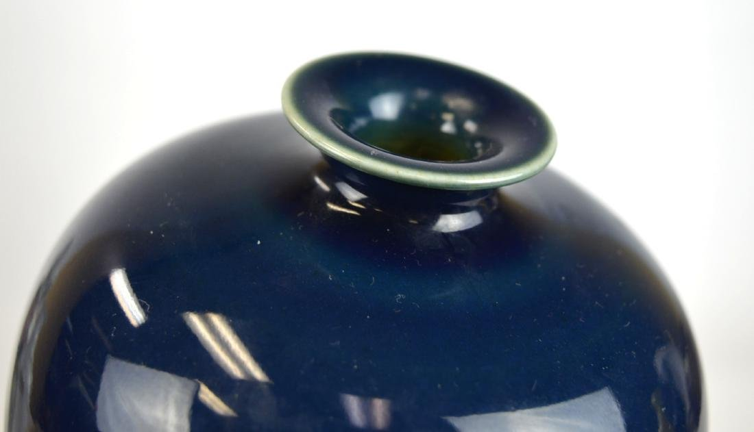 Chinese Blue Glazed Vase - 2