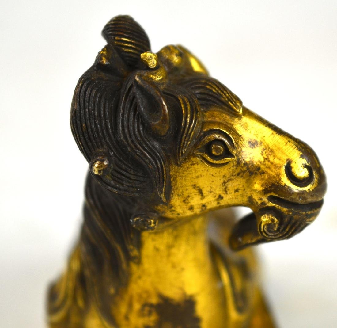 Chinese Gilt Bronze Animal Figure - 2