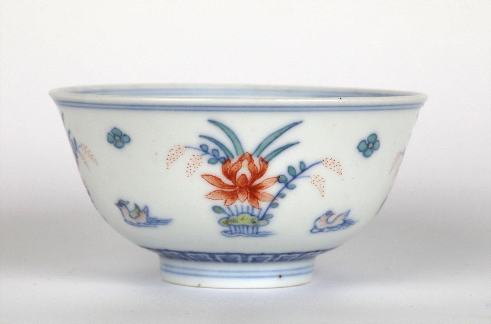 Chinese Doucai Glazed Bowl