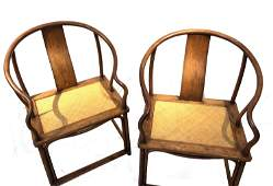 Pr Chinese Huanghuali Wood Chairs