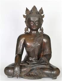 Chinese Gilt Bronze Buddha Figure of Sakyamuni