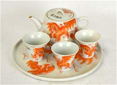 Chinese Porcelain Teapot Set