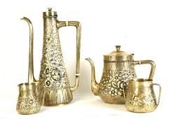 Four Pcs Gorham Sterling Silver Coffee Set