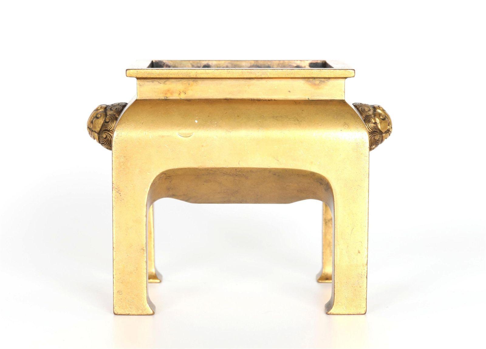 Chinese Gilt Bronze Incense Burner