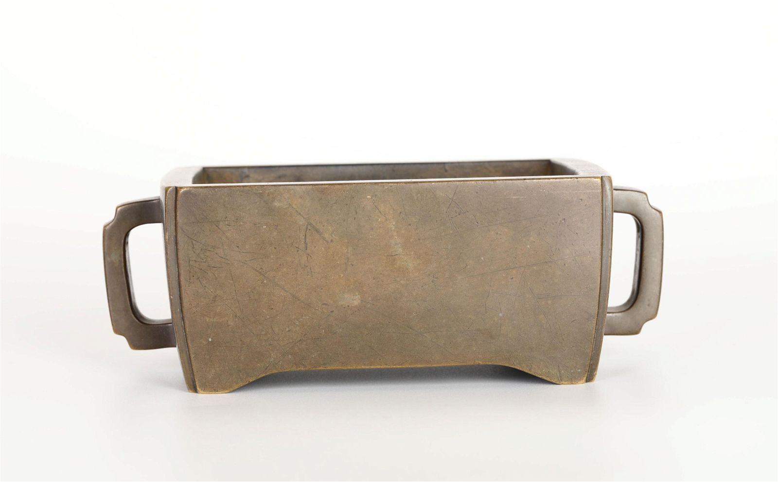 Chinese Bronze Incense Burner w. Handles
