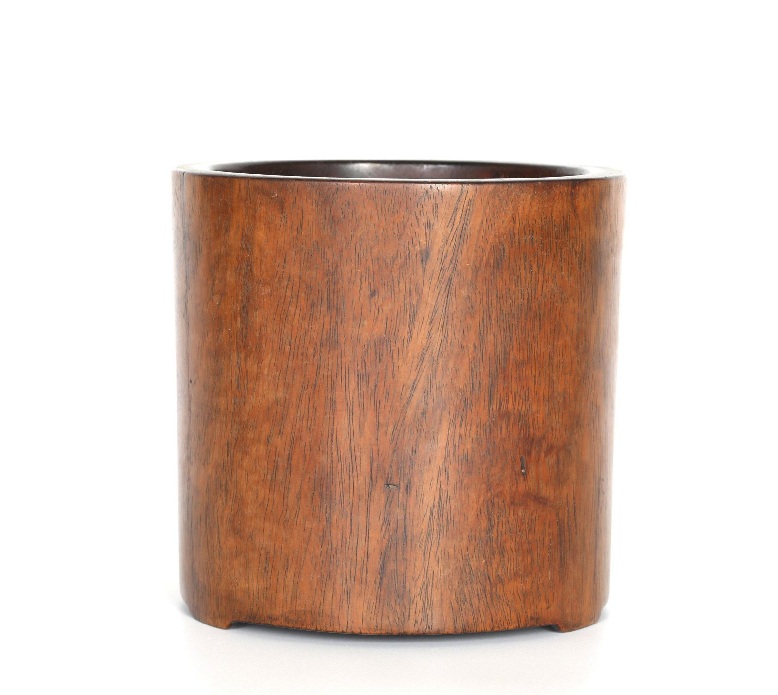 Chinese Cylindrical Huanghuali Wood Brush Pot
