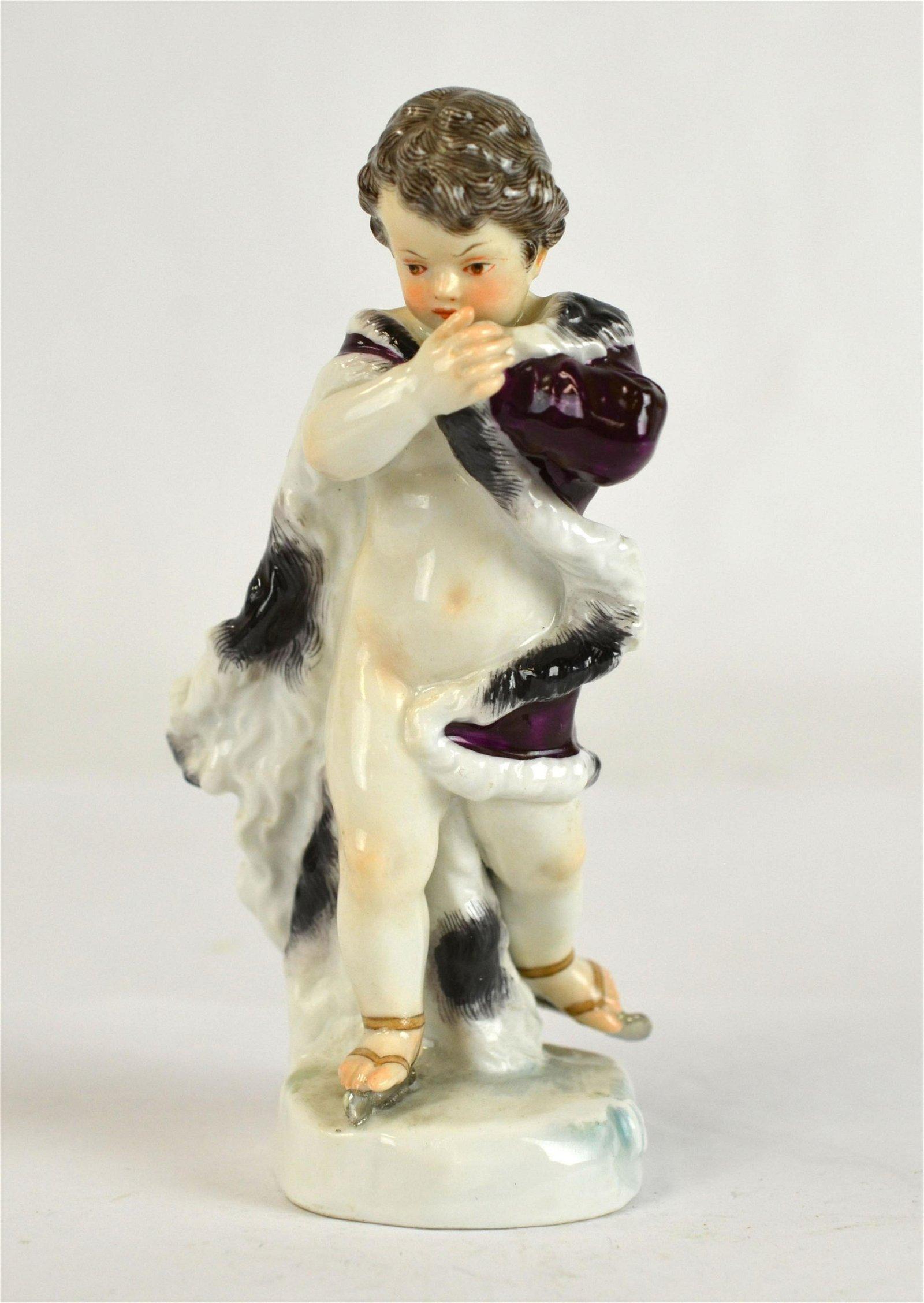 Meissen Figure of Skating Boy