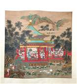 Possible Leng Mei Chinese Painting Scroll on Silk