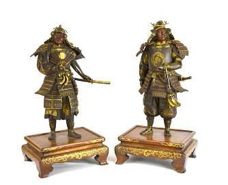 Important Pr Japanese Mix Metal Samurai Warriors