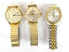 Three Vintage Wrist Watches