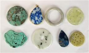 Eight Pcs of Chinese Jade & Stone