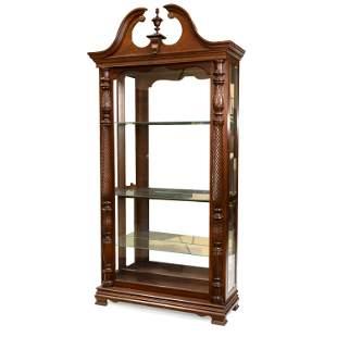 Carved Mahogany Curio Cabinet