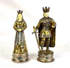 Two Germany Sterling Silver King & Queens