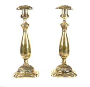 Pr Fisher Sterling Candle Stick Holders