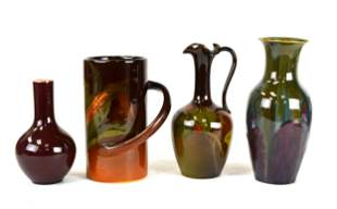 Four Rookwood Pottery Pieces