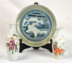 Three Pcs of Chinese Porcelains