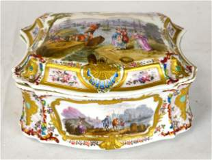 German Painted Porcelain Box