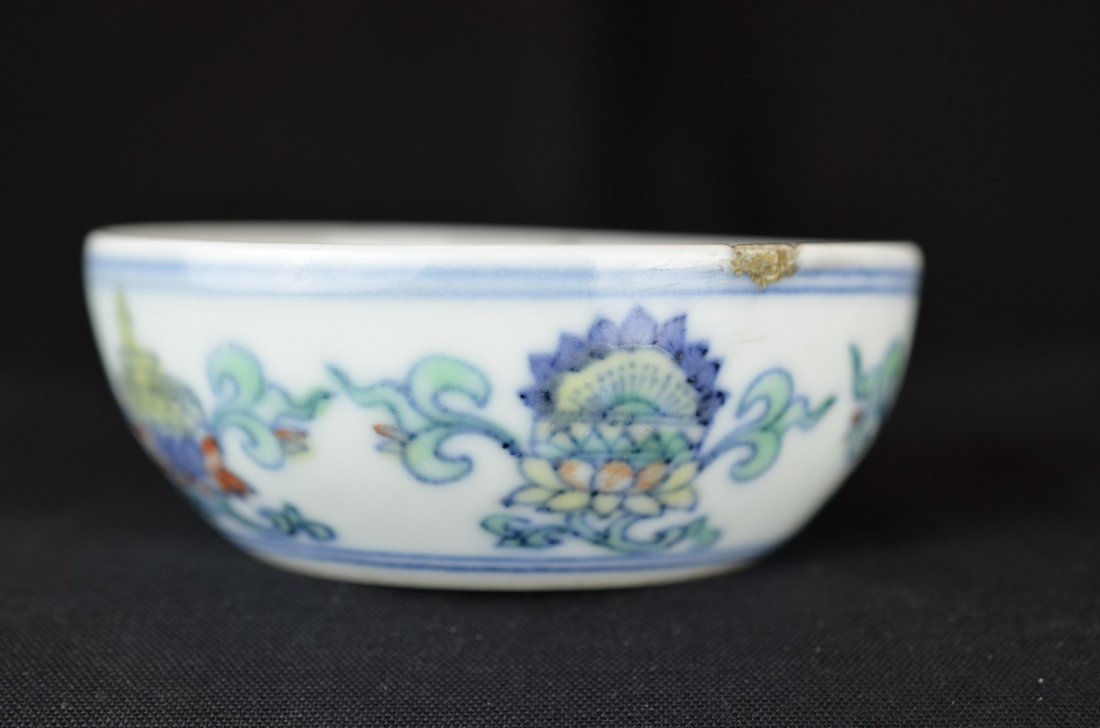 A Chinese Small Doucai  Round Dish