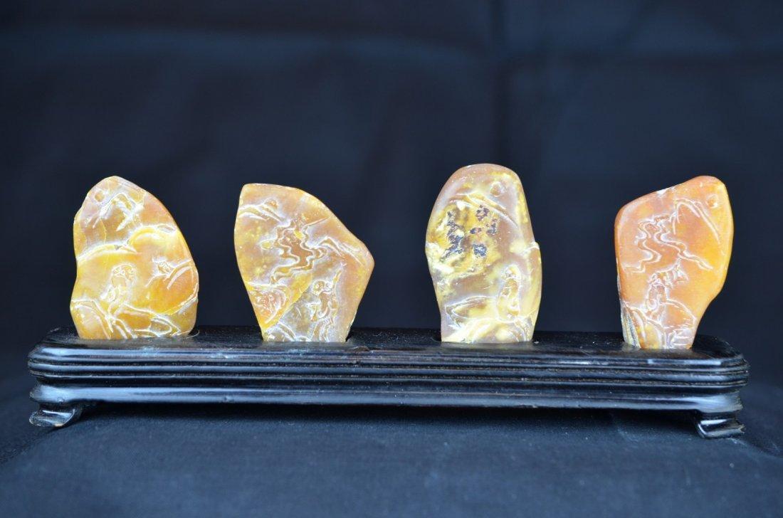 A Set Of Four Tian Huang Stones