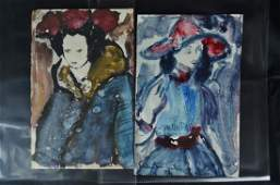 A Pair of Female Monotypes