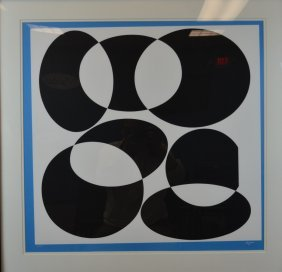 """Agam """"Bout A Bout"""" Limited Edition Silkscreen Serigraph"""