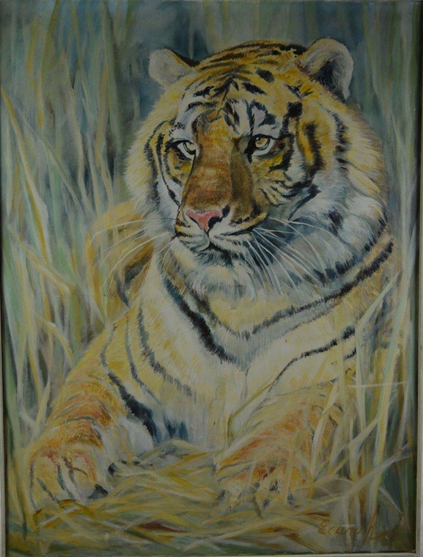 "Ecaro ""Asian Tiger"" Original Oil on Canvas"