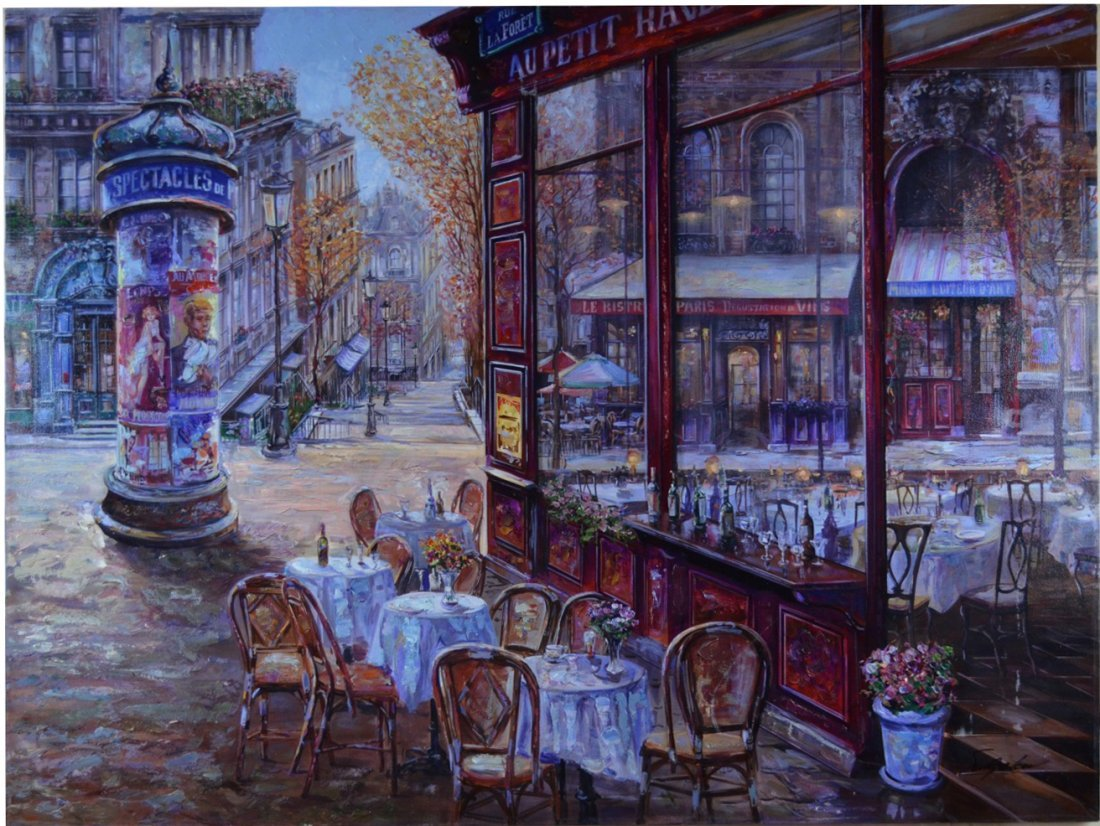 "Vadik Suljakov "" Le Bistro de Paris "" Serigraph"
