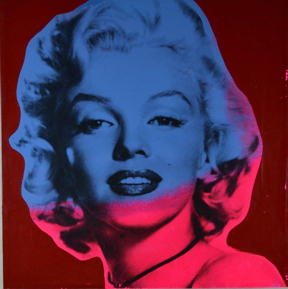 "Steve Kaufman ""Marilyn Monroe Red"" Silkscreen"