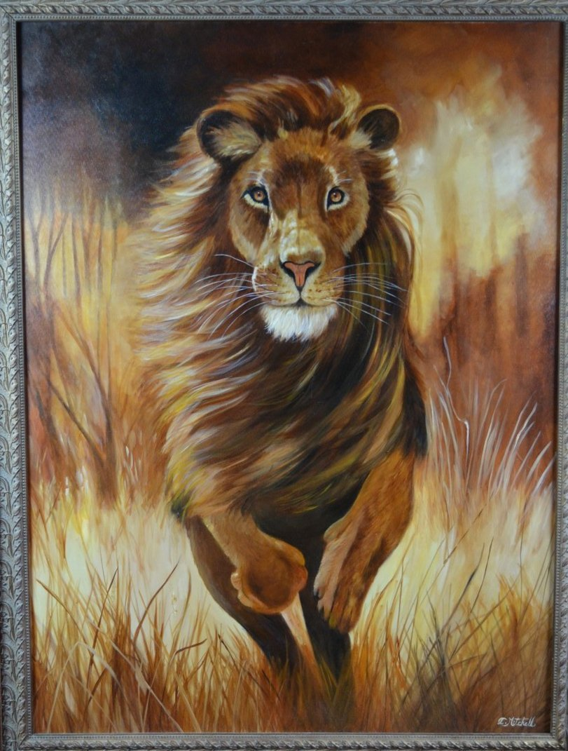 """Charlene Mitchell, """"Charge"""", Original Oil on Canvas"""