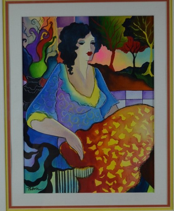 "Patricia Govezensky, ""Daydream"", Original Watercolor"
