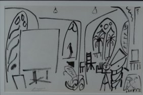 "Pablo Picasso, ""The Studio At La Californie VI"", Litho"