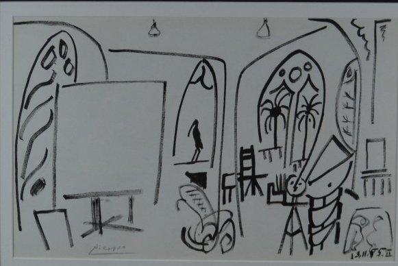"Pablo Picasso, ""The Studio at La Californie VI"", Litho"