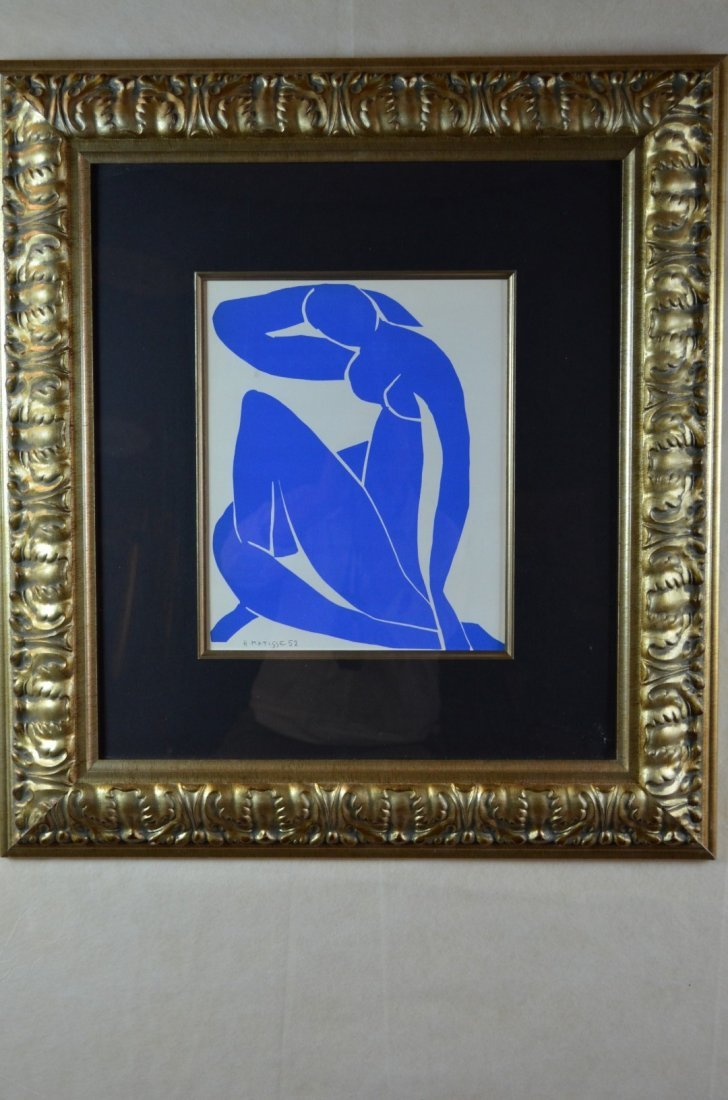 """Henri Matisse, """" Blue Nude"""", Signed Lithograph"""