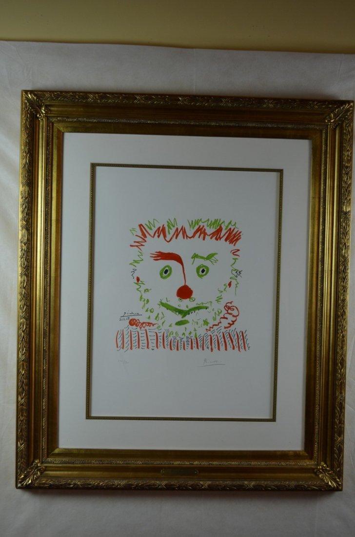 """Pablo Picasso, """"Le Clown"""", Lithograph, 1968"""