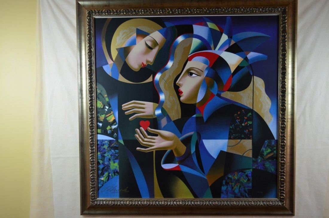 """Oleg Zhivetin,  """"Tender Heart"""", Silkscreen"""