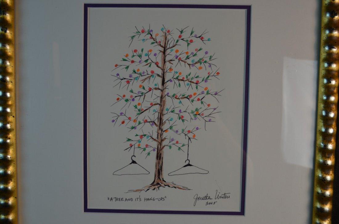"""Jonathan Winters, """"A Tree and Its Hang Ups"""", Watercolor"""