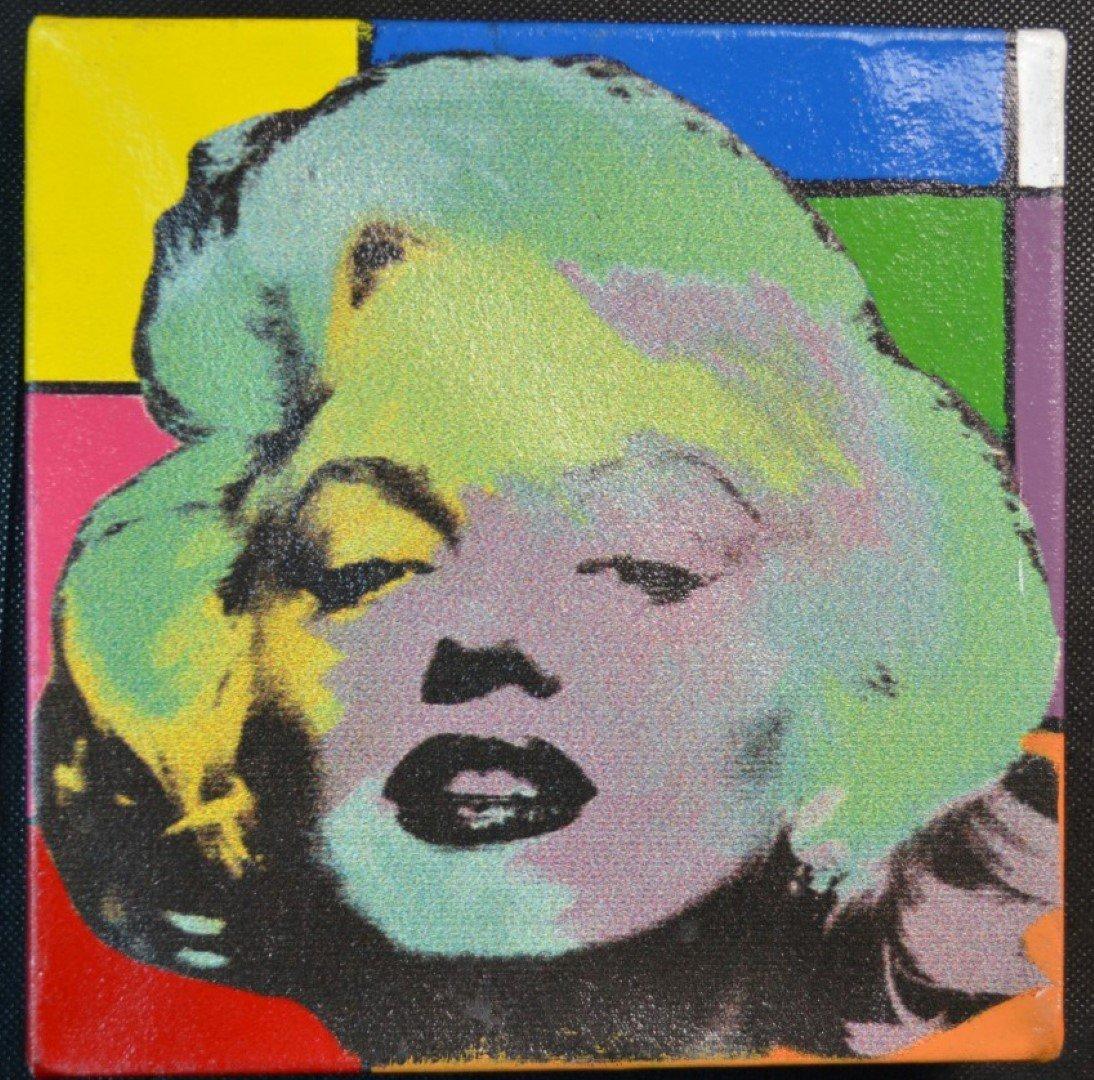 "Steve Kaufman ""Mini Marilyn"" Oil & Silkscreen on Canvas"