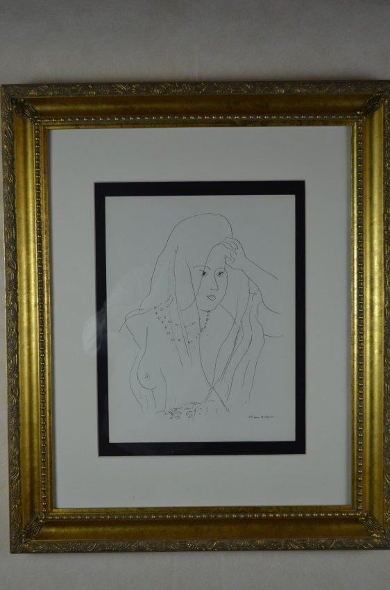 "Henri Matisse, ""Theme N Variation 5"", Lithograph"